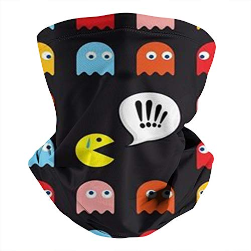 Boy's/Girl's Pac-Man-Poster- Neck Gaiters Scarf Headband Anti Droplet Cover Cycling Motorcycle