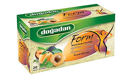 Dogadan Premium Form Kräutertee mit Aprikosen, 6er Pack, Aprikosentee, Mixed Herbal Tea with Apricots, 6er Pack, 6x20 Beutel