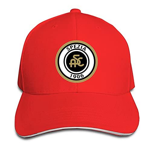 Aiier SPE-Zia Cal-CIO Logo - Berretto da baseball con stampa e visiera parasole da viaggio, cappello da sandwich regolabile rosso Taglia unica