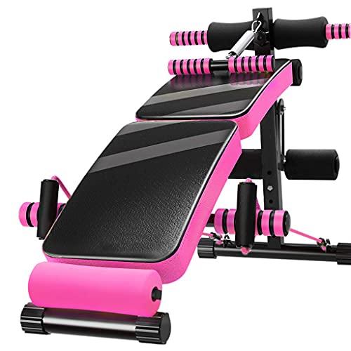 FFAN Sit-Up Board, Home Fitness Stuhl Bauch Multifunktionales Fitnessgerät Faltbar mit elastischem Kordelzug und Federverstärker mit Kickfunktion