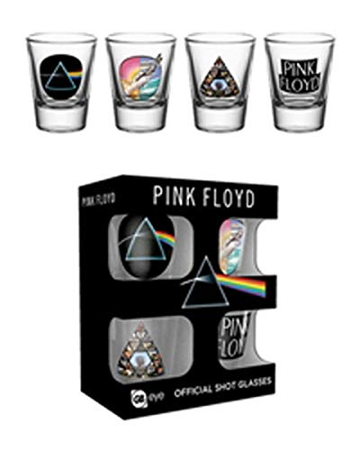 Les 4 verres à shot pour fan de Pink Floyd