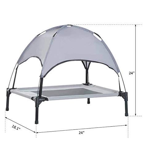Nouveau lit pour Chien Respirant Coussin de Chien Portable Respirant Respirant à Double Couche renforcée modèles de Plafond de Tente portante lit de Chien élevé pour Animaux de Compagnie lit de Camp