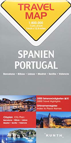 Reisekarte Spanien, Portugal 1:800.000: Travel Map Spain, Portugal