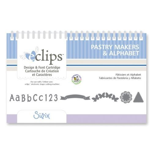 Sizzix eclips Cartridge - Pastry Makers Shapes & Alphabet by Scrappy Cat