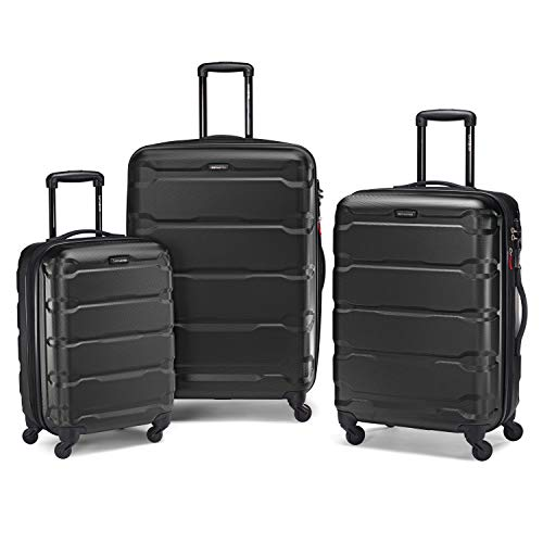Samsonite Omni PC Hardside Luggage, Black, 3-Piece Set