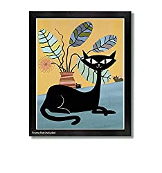 Lazy Day by Artist Jason Smith - mid-century modern cat pring