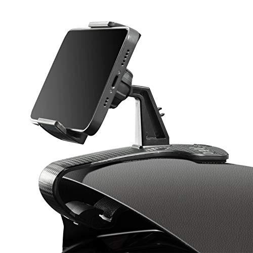 WanloNer スマホ車載ホルダー 電話番号ロゴ 車 スマホホルダー 360度回転 携帯 ホルダー 角度調節可能 すまほ ホルダー 着脱簡単 HUD 電話ホルダー 車載スマホスタンド 片手操作 スタンド に適用する 車と机 3.5-6.8インチ iPhone 12/11/11 pro,Samsung,Sony,Huawei 携帯電話ホルダー (Black 2)