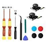 Thlevel 2-Pack 3D Replacement Joystick Analog Thumb Stick for Nintendo Switch Joy-Con Controller - Include...