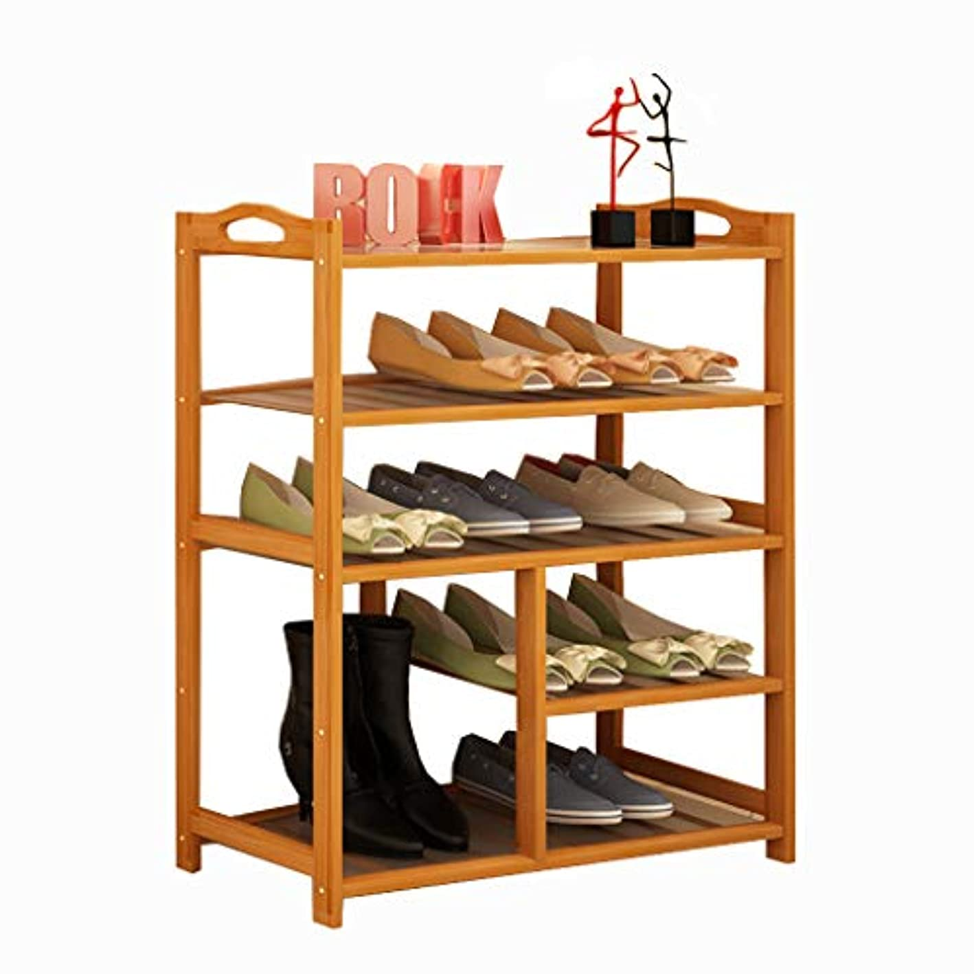 Bamboo Shoe Rack 5-Tier Storage Shelf for Entryway Hallway Bathroom for Boots Heels Bag Holder Stand Organizer Furniture