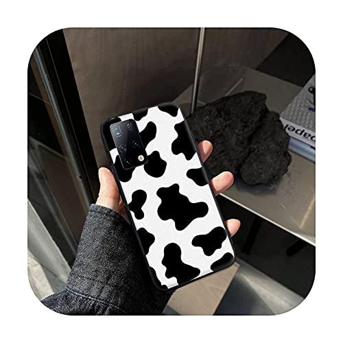 Phone cover Negro blanco vaca imprimir teléfono cajas para Samsung A01 A10S A20S A20 A20E A30S A31 A40 A50S A51 A70 A71 A80 cubierta fundas coque-A9-para Samsung A10S