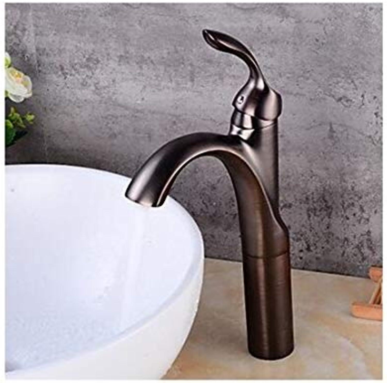 Wasserhahn Weinlese überzogene Küchenbadezimmerhahn Athroom Sink Wasserhhne Keramikventil Einhand-Loch Für lgetrocknete Bronze