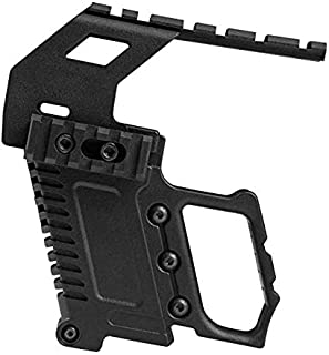 Gexgune Tactical Area Pistol Toy Carbines Kit Installation W/Rail Panel ABS for Glock G17 G18 G19 GBB Series Loading Accessories (2 Colors Optional)