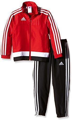 adidas Kinder Sportanzug Tiro15 pre su y Trainingsanzug, Power Red/White/Black, 152