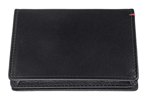 Zippo Nappa Leather Business Card Holder Caja para Tarjetas de Visita 10 Centimeters Negro (Black)