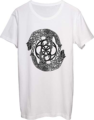 Camiseta de hombre de estilo celta de dos lobos ilustraciones bnft