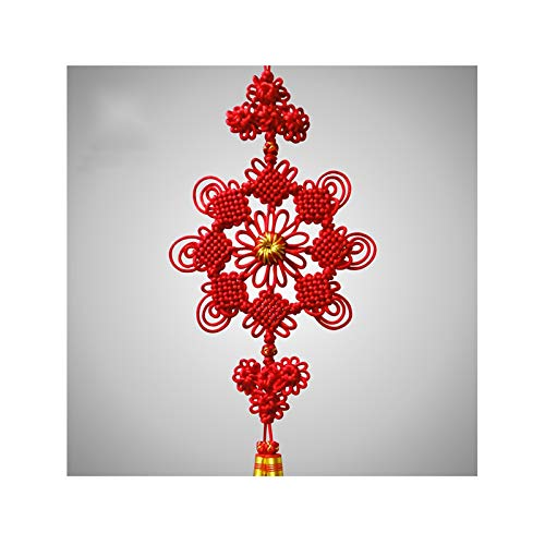 Tassels for Crafts High-end Symmetrical Boutique Chinese Knot New Year Gifts Home Decoration Chinese Knot Not Easy to Fade Chinese Knot for Luck Wealth Health to Friends Family ( Size : Medium )