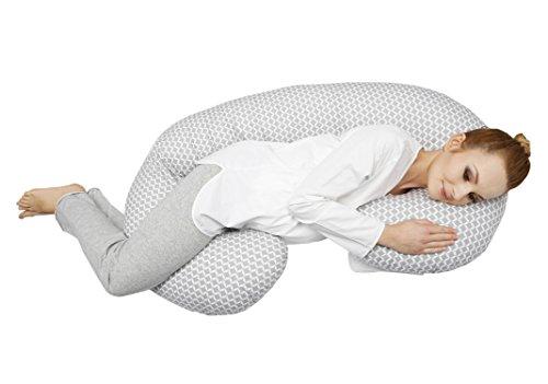 Motherhood Still- und Lagerungskissen sleepy-C, Classics, ergonomisch mit Öko-Tex Standard 100, Grau Classics 2017