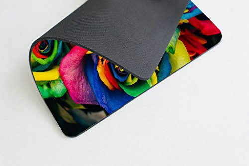 Smooffly Rose Mouse Pad,Colorful Rose Petals Rainbow Rose Petals Customized Rectangle Non-Slip Rubber Mousepad Gaming Mouse Pad Photo #3