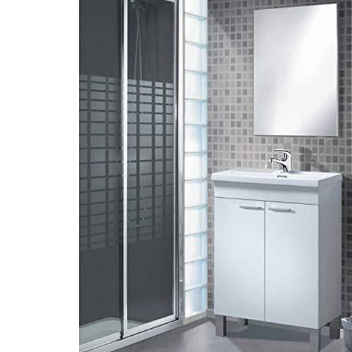 Mueble Baño + Espejo + Lavabo de ABS, Grifo Incluido con latiguillos