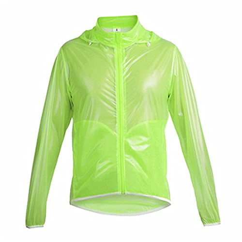 Chaqueta de ciclismo impermeable para hombre Abrigo de rompevientos transpirable de lluvia, camino ultraligero al aire libre MTB Ropa de bicicleta, para correr, entrenamiento deportivo o jerseys de ci
