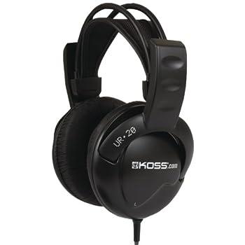 Koss UR20 Over-Ear Headphones Flexible Sling Headband Black