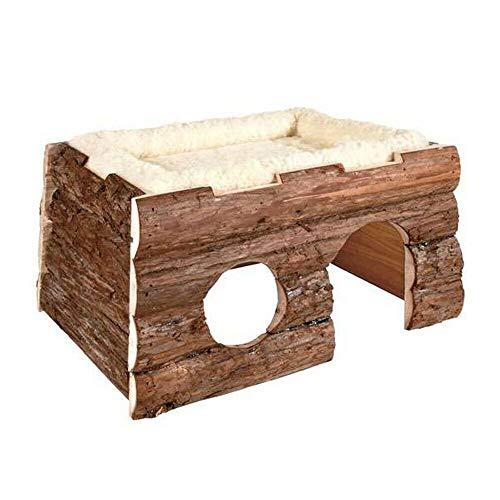 EQT-TEC Blockhaus Tilde mit Kuschelbett Haus Spielhaus zb Kaninchen Meerschweinchen