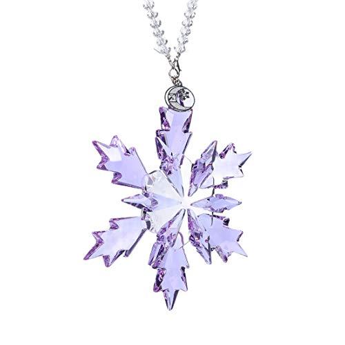 TITISKIN 2020 Snow and Ice Elf Pendant, Crystal Christmas Ornaments (Purple)