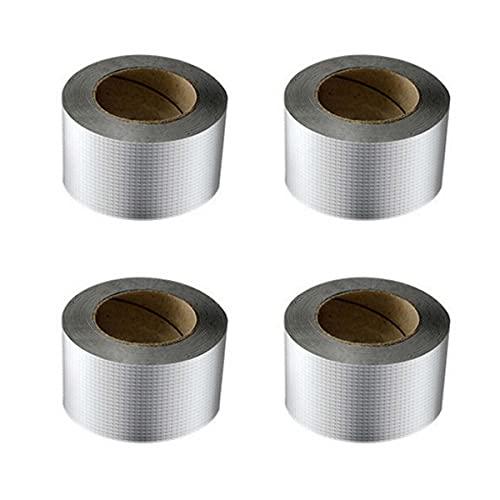 VeroMan 防水テープ 補修テープ ブチルテープ 粘着テープ ダクトテープ 防水 耐熱 配管 水漏れ 屋外対応 多用途 4個セット (10cm × 5M)