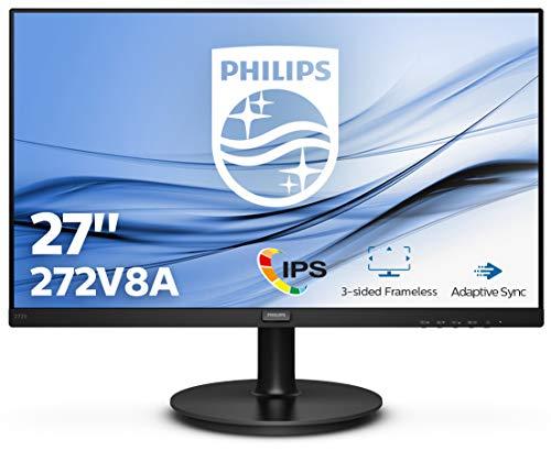 Philips 272V8A 68 cm (27 Zoll) Monitor (HDMI, DisplayPort, 4 ms Reaktionszeit, 1920 x 1080, 75 Hz, FreeSync) schwarz