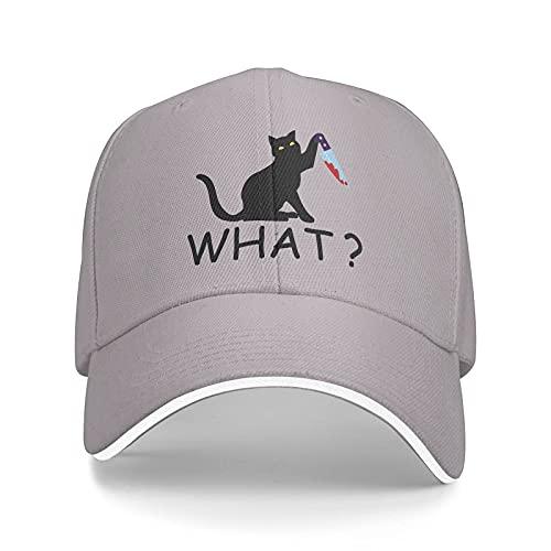 Jopath Sombrero de béisbol con cuchillo de gato asesino ajustable Casqueta sombrero de moda de papá para hombres y mujeres