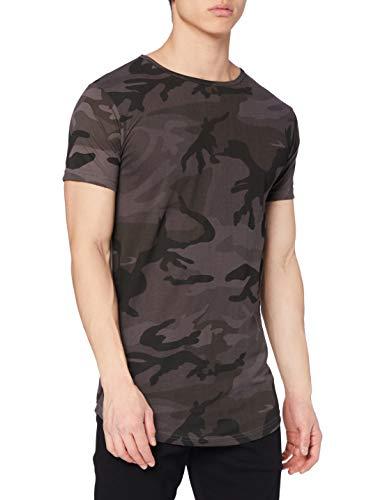 Urban Classics Herren Shaped Long Tee T-Shirt, Mehrfarbig (Dark Camo 784), X-Large