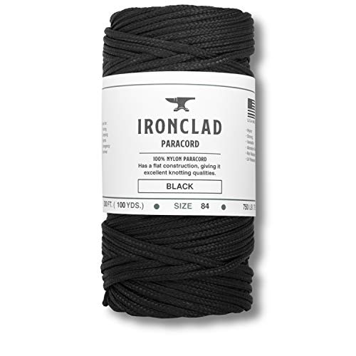 Ironclad Supply 300' 750 Paracord - 100% Nylon Coreless Paracord for Camping, Hunting, Fishing, Survival and Tactical Applications (White)