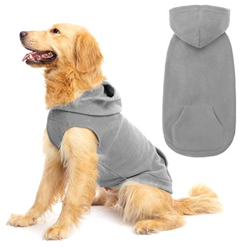 EXPAWLORER Fleece Dog Hoodie with Pocket