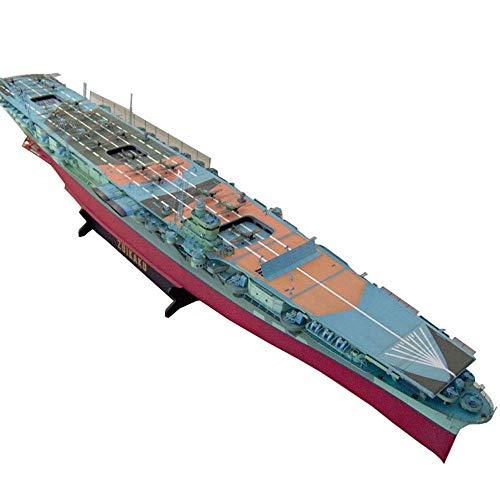 DFJU Juguetes de Modelo de Rompecabezas de Papel Militar, Escala 1/200, portaaviones japonés Zuikaku, Juguetes y Regalos para niños, 50 Pulgadas