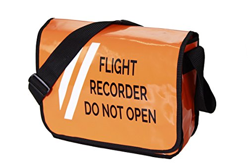 Umhängetasche FLIGHT RECORDER DO NOT OPEN