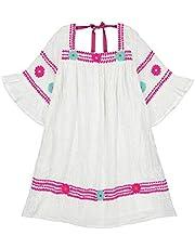 فستان ماريا الصغير للفتيات الصغيرات من Masala بشريط معدني فضي