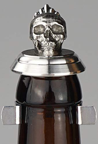 Flaschendeckel Zinn, Bierflasche Zinn Deckel, Bierflaschendeckel, Skull, Totenkopf, Gothic, Corona