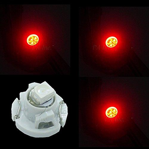 PA Lot de 20 ampoules LED T4.2 pour tableau de bord de voiture, 5 options de couleurs 12 V (rouge)