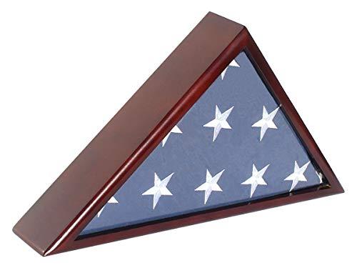 Solid Wood Memorial Flag Case Frame Display Case for 5x9.5
