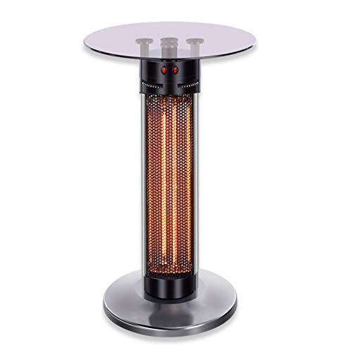YWJPJ. Vertikale Infrarot-Heizung mit Tischplatte aus gehärtetem Glas, Kohlefaser-Heizelement, 360 °-Strahlung und Antidumping, geräuschlose und schnelle Heizung, Energieeinsparung Haushalt