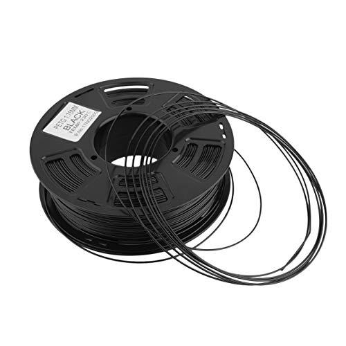 1.75mm PETG Filamento Impresora 3D Material de impresión Suministros Rollo 1 kg para impresión 3D Pluma Ingeniero Dibujo Arte-Negro