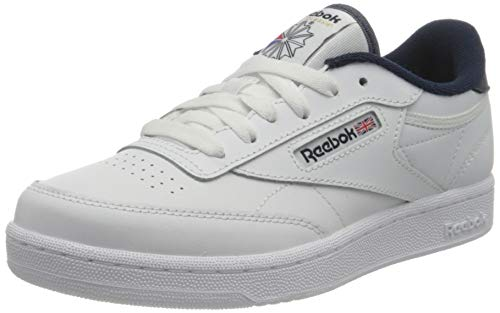 Reebok Club C 85 Sneaker, White/Vector Navy/White, 38 EU