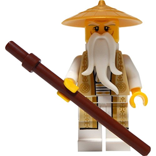 LEGO Ninjago: Minifigur Sensei Wu (Tan and Gold Outfit, aus Set 70751)
