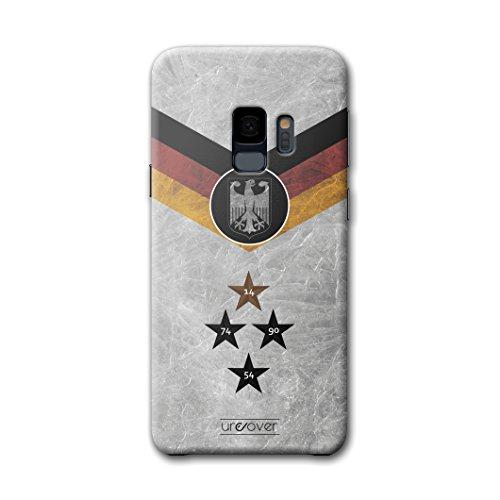 Urcover® Fußball Schutzhülle kompatibel mit Samsung Galaxy S9 [Team Deutschland] Fußball Case