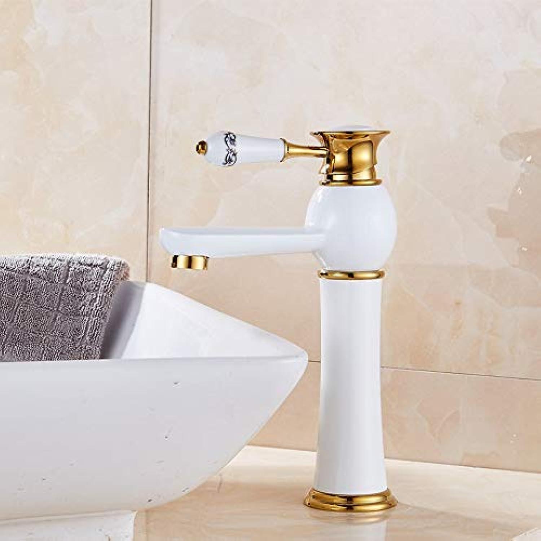 Europische Kupfer heien und kalten Wasserhahn Waschbecken Waschbecken heies und kaltes Wasser Einlochmontage Hhe Waschbecken Pool Wasserhahn
