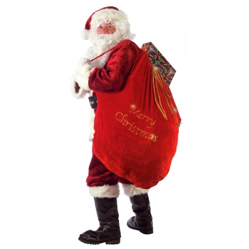 ARAD Large Velvet Embroidered Merry Christmas Santa Present Sack…