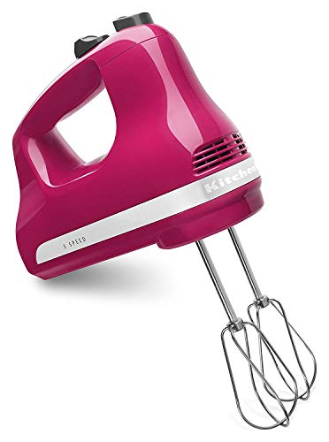 KitchenAid KHM5AP 5-Speed Ultra Power Hand Mixer (Cranberry) (Renewed)
