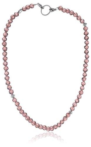 EDC Damen-Halsband Edelstahl rhodiniert Glaskristall Glamour Chic Ravishing Red rot EENL10230A420