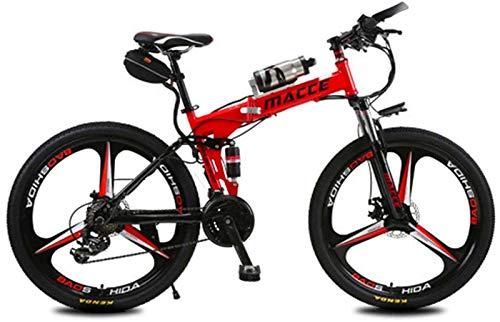Bicicleta de montaña eléctrica, Bicicletas eléctricas for adultos, de aleación de magnesio Ebikes Bicicletas todo terreno, 26' 250W 12Ah extraíble de iones de litio de la montaña E-bici for hombre ,Bi