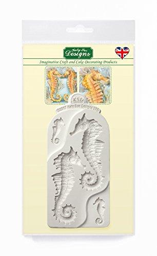 Moule en silicone d'hippocampes pour la décoration de gâteau, Cupcakes, Sugarcraft, sucrerie et argile, nourriture sûre